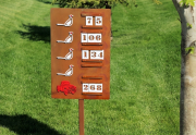 Yardage Sign SILO RIDGE DISCOVERY COURSE
