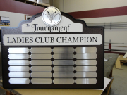 Custom Golf Perpetual Plaque -The Lakes