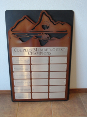 Golf Tournament Perpetual Plaque -Keowee Falls