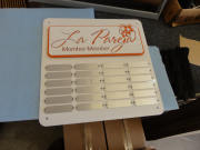 Golf Perpetual Plaque -La Pareza