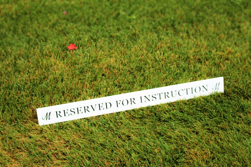 Golf Practice Facility Signs -Morningside