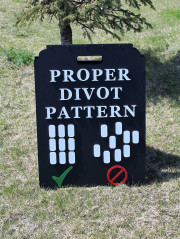 Proper Divot Pattern Sign -CC of Sioux Falls