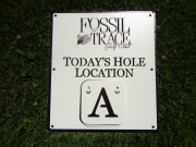 Custom Golf Course Signage -Fossil Trace