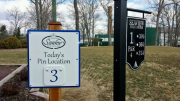 Pin Location Sign for Seaview Golf Course