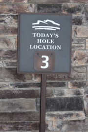 Pin Location Sign -Superstition Mountain