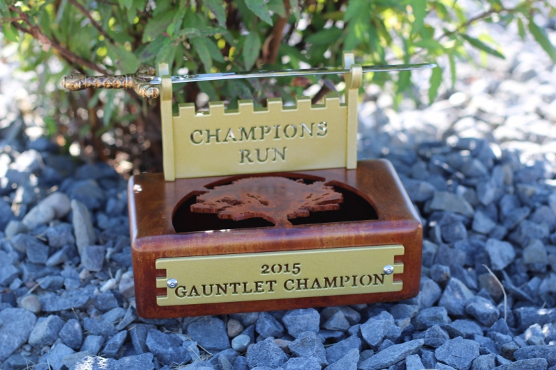 Gauntlet Champion Trophy -Champions Run