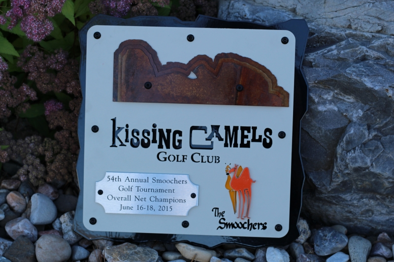 Golf Tournament Plaque -Kissing Camels