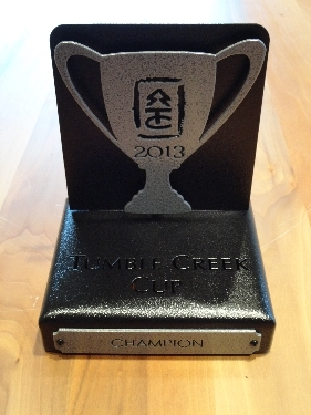 TUMBLE CREEK -Custom Golf Trophy
