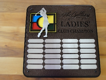 THE GALLERY -Custom Golf Perpetual Plaque