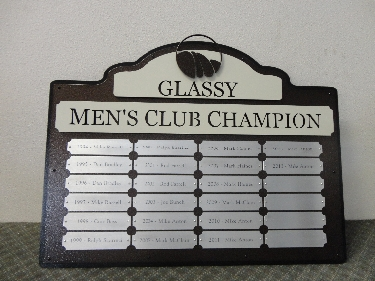 GLASSY -Custom Golf Perpetual Plaque
