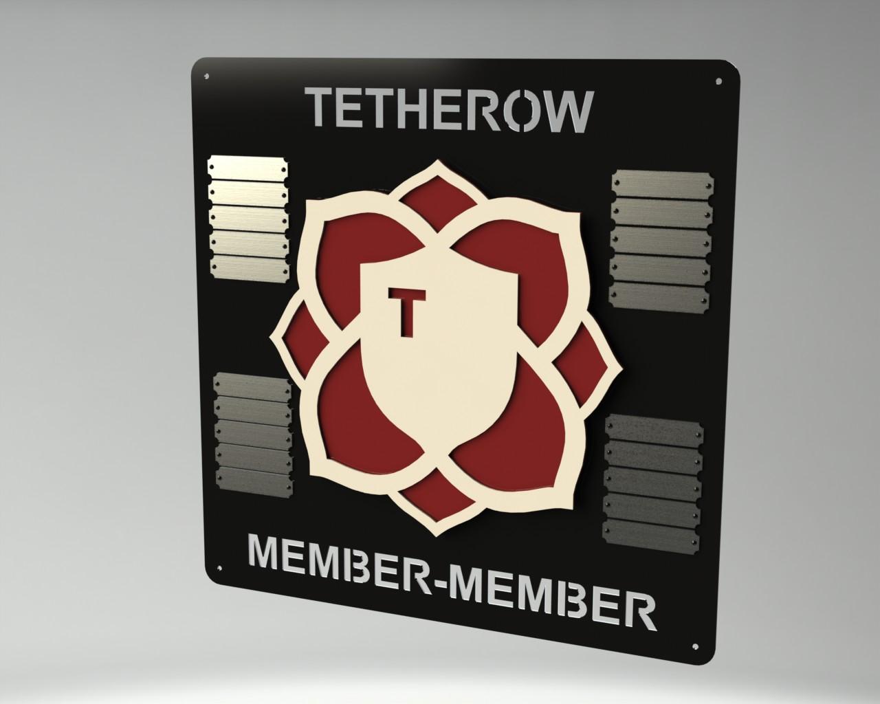 Member Member Champions Plaque