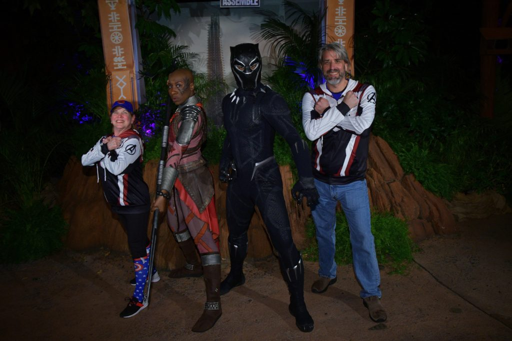 Tom & Michelle - Black Panther - Disneyland After Dark: Heroes Assemble