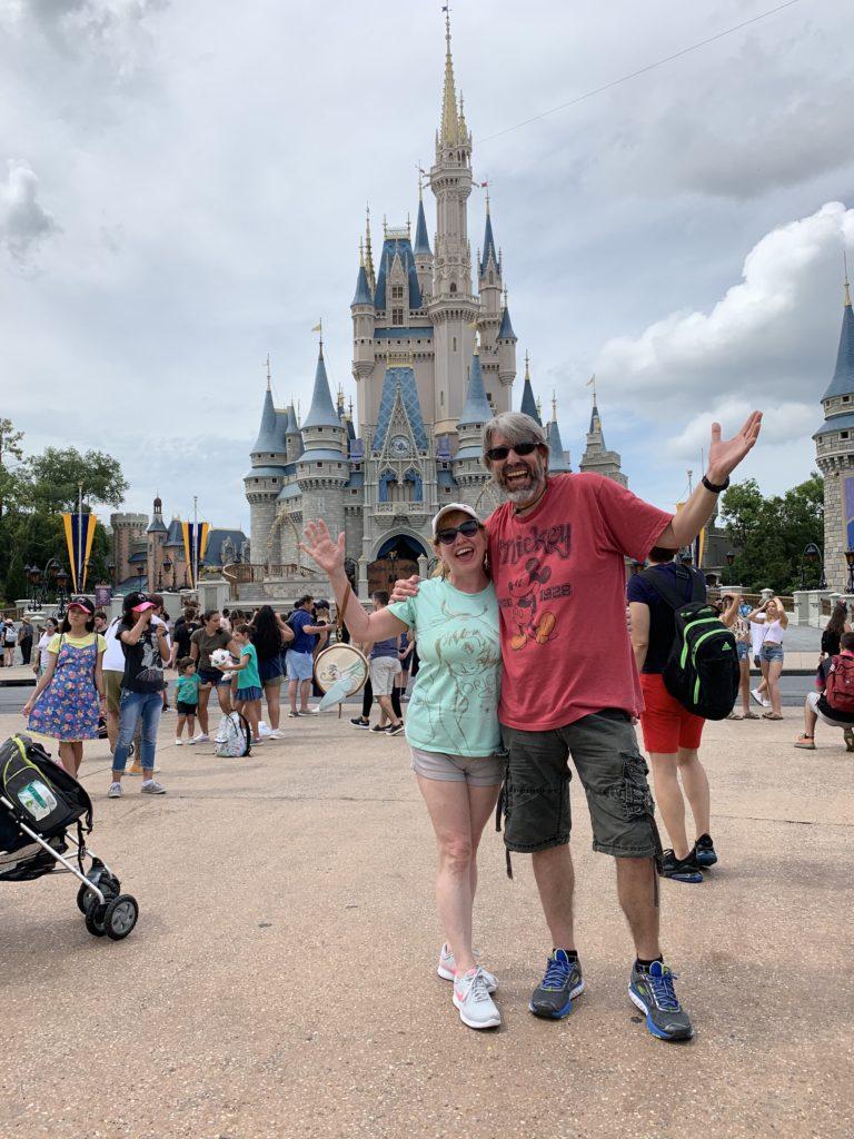 Tom & Michelle by Cinderella Castle - Walt Disney World Trip Recap-