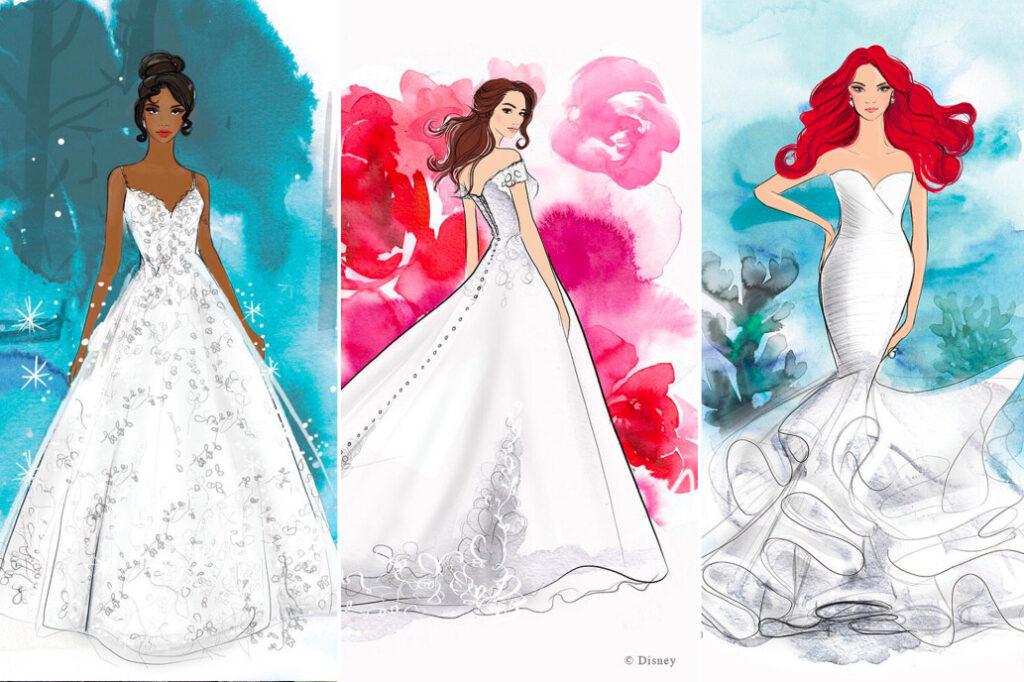 Disney Princess Wedding Gowns - Conceptual Artwork