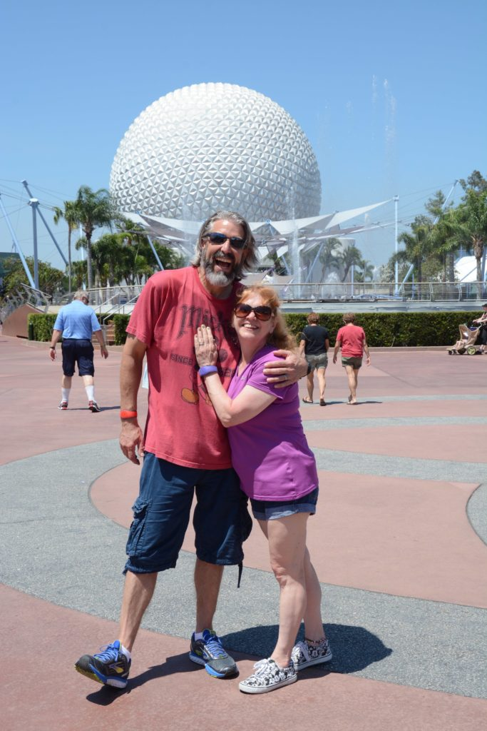 Tom and Michelle at Epcot - Our 2 Year Anniversary Celebration