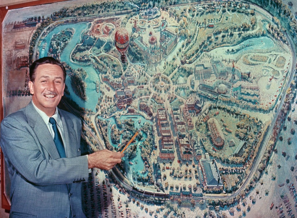 Walt Disney and the Disneyland Map - Disneyland - 65 Years Of The Happiest Place On Earth