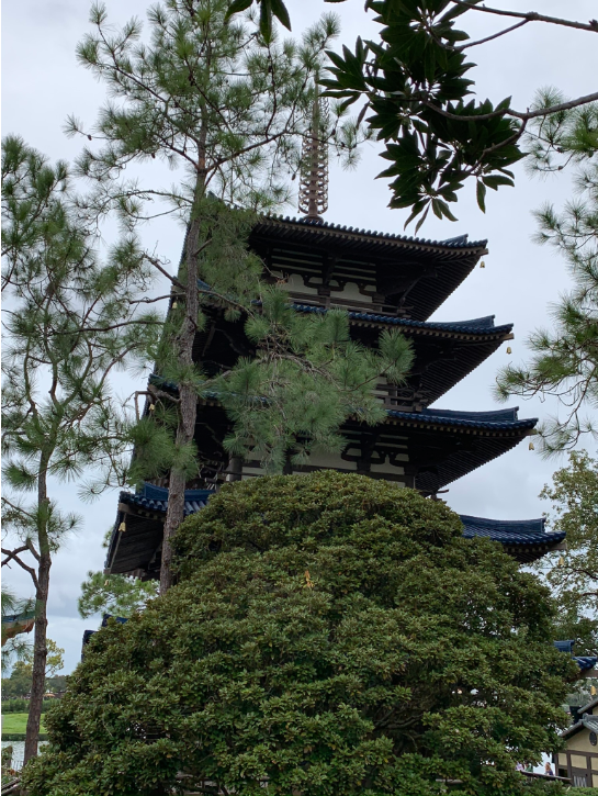 Pagoda at Epcot's Japan Pavilion - Our 5 Favorite Disney Architectural Marvels
