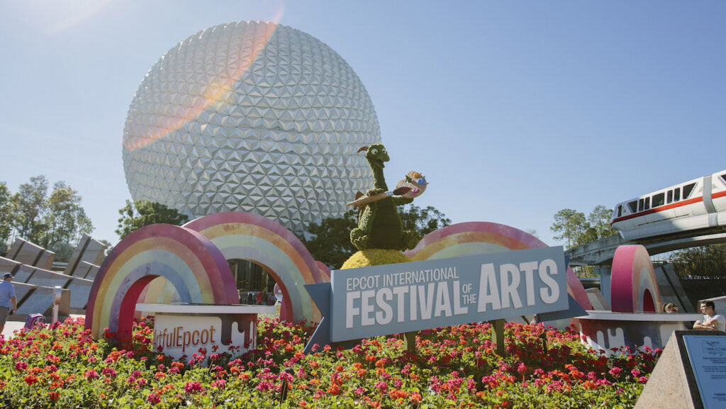 Welcome sign to the Epcot International Festival of the Arts