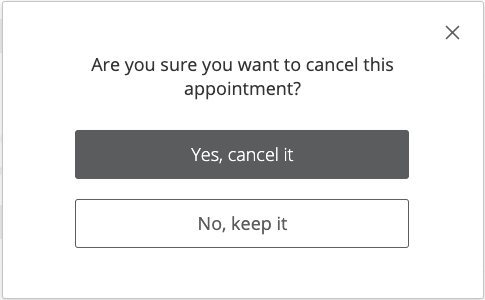 Are you sure you want to cancel