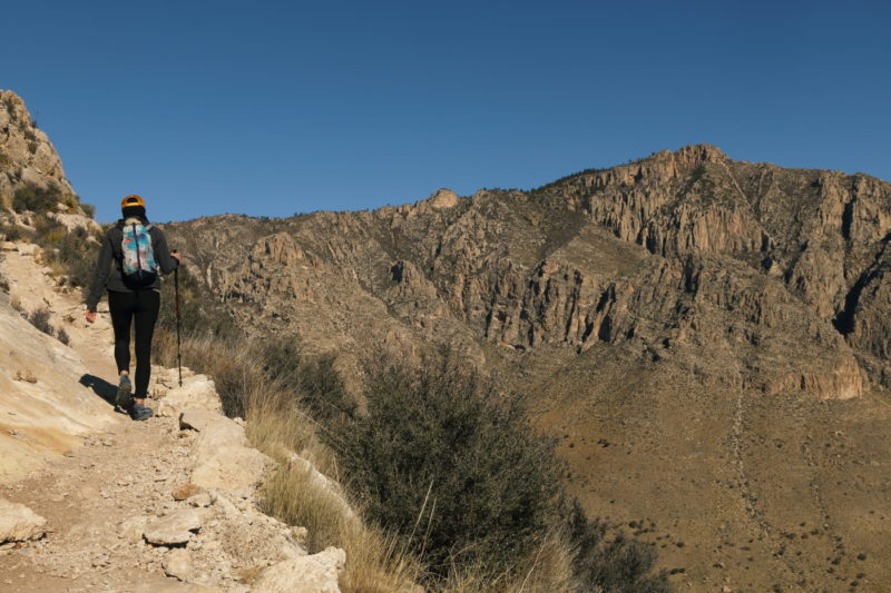 Guadalupe Peak - View of Hunter Peak from the east end of the trail