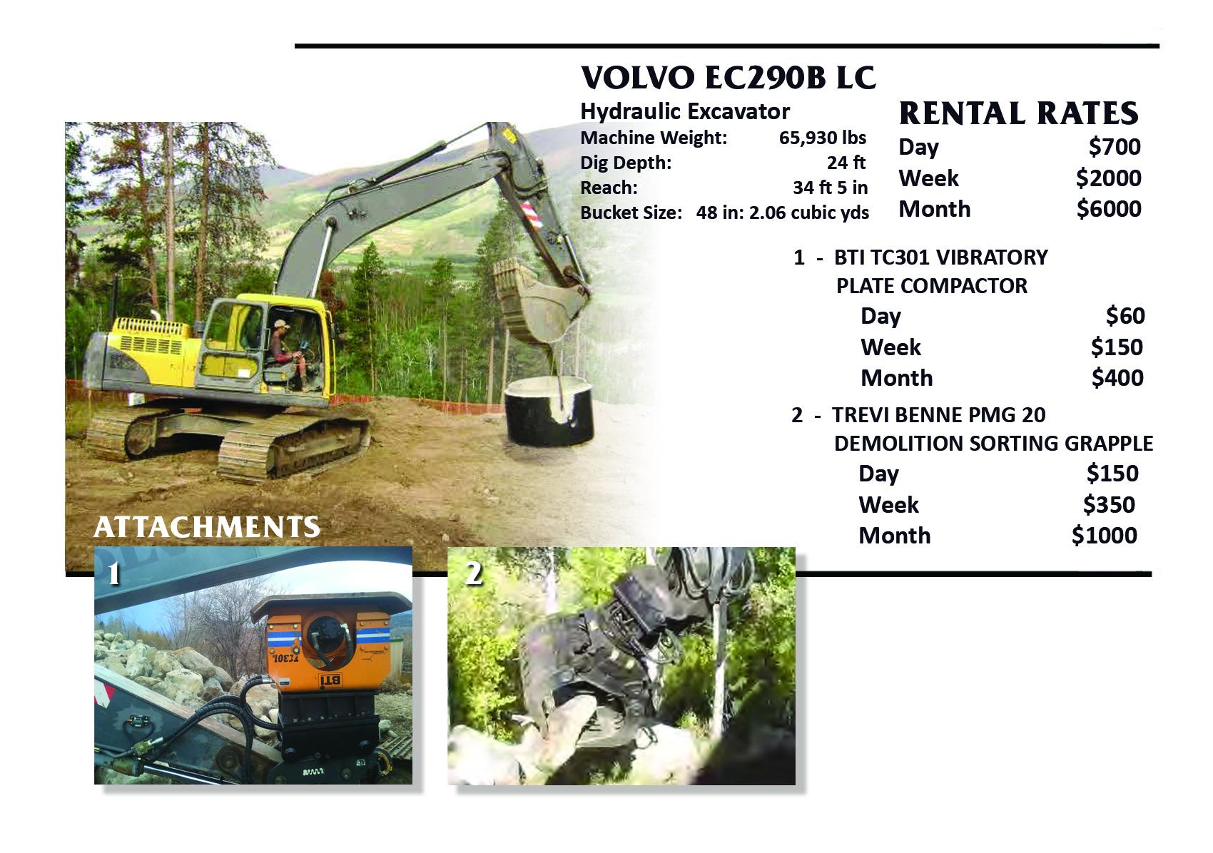 Excavators Attachments Rent