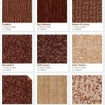 Shaw carpet samples (oranges)