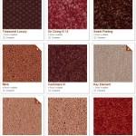 Shaw carpet samples (reds)