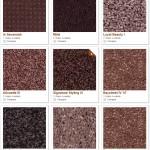 Shaw carpet samples (violets)