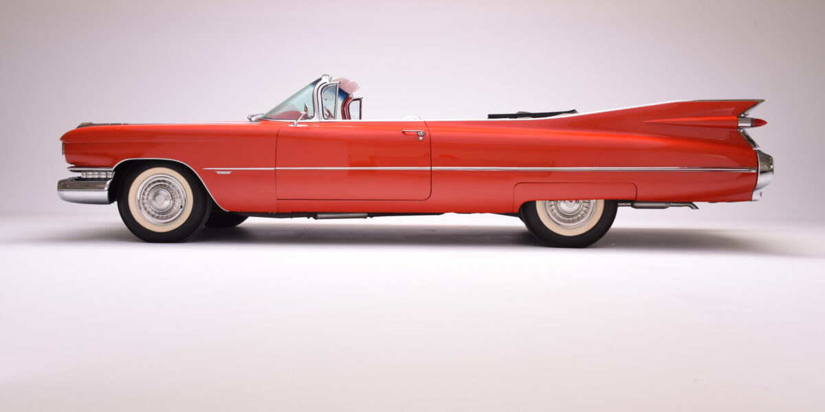 14_'59 Cadillac Convertible red
