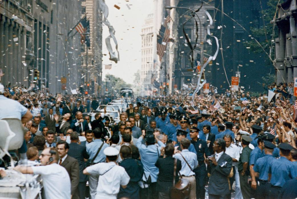 ©NASA | New York City welcomes the Apollo 11 crew in a ticker tape parade down Broadway and Park Avenue.