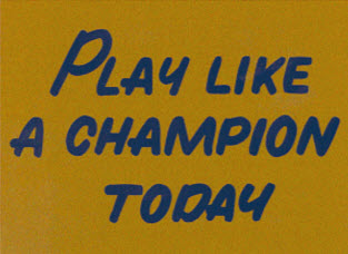 Play Like a Champion Today Builds Character