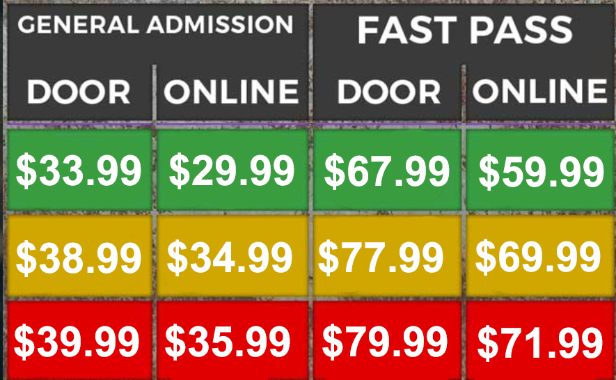 New Times & Pricing May 16