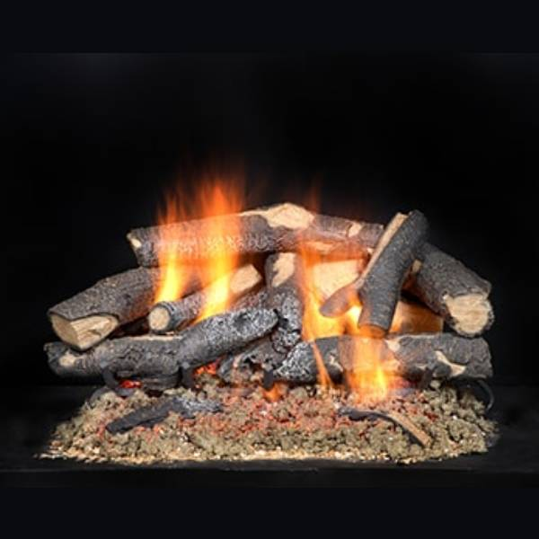Fireside Supreme Oak See-Through Gas Logs