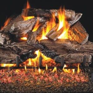 fireplace logs charred cedar