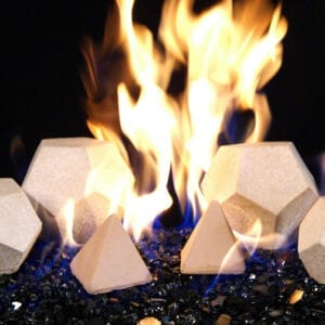 Geo Shape and stones for fireplaces