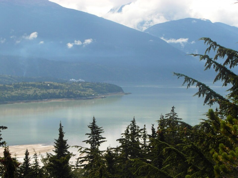 One of the many spectacular views of Taiya Inlet and the Chilkoot Mountains - Skagway Alaska