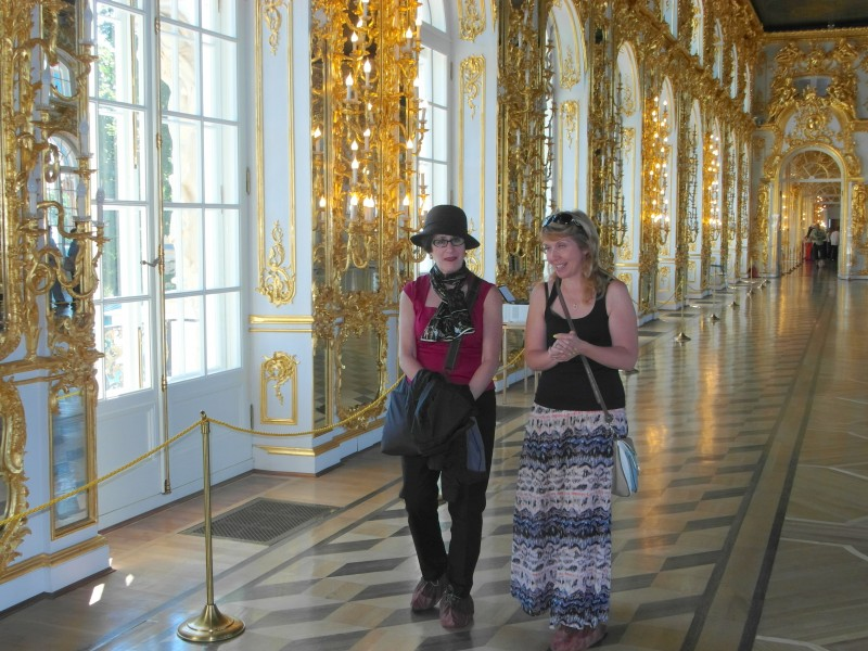 Pushkin, Russia near Saint Petersburg - Catherine's Palace and the Amber Room