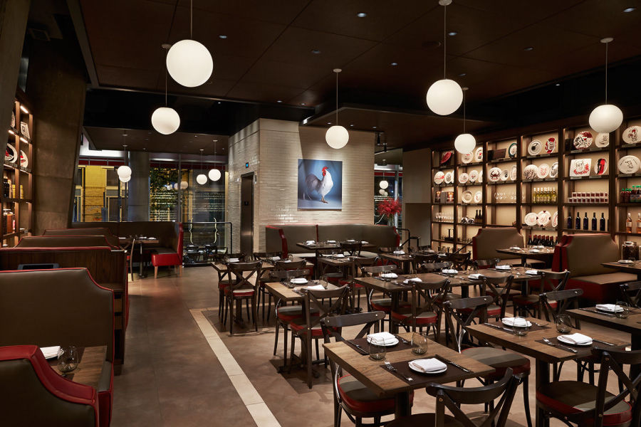 Part of main dining room at DBGB Kitchen  and Bar in Washington DC photo: gregpowers.us