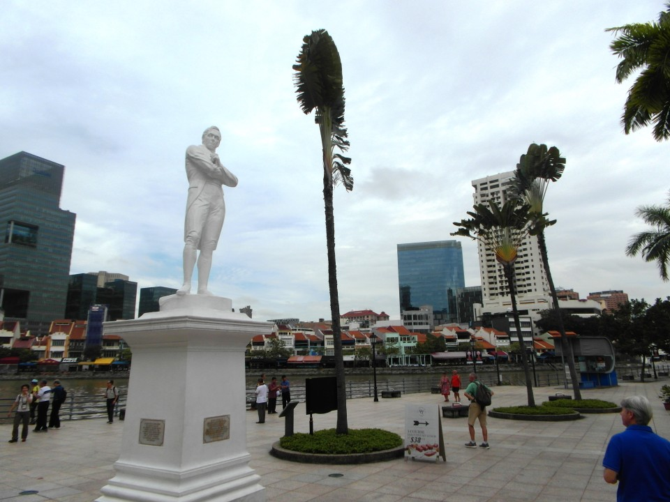 Singapore old and new under the watchful eye of Sir Stamford Raffles