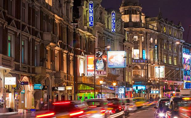 West End Theatre district - London (photo BritishTheatre.com)