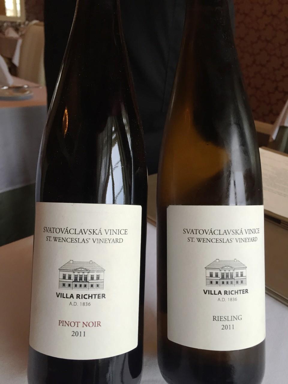 Piano Nobile at Villa Richter : St Wenceslas wines