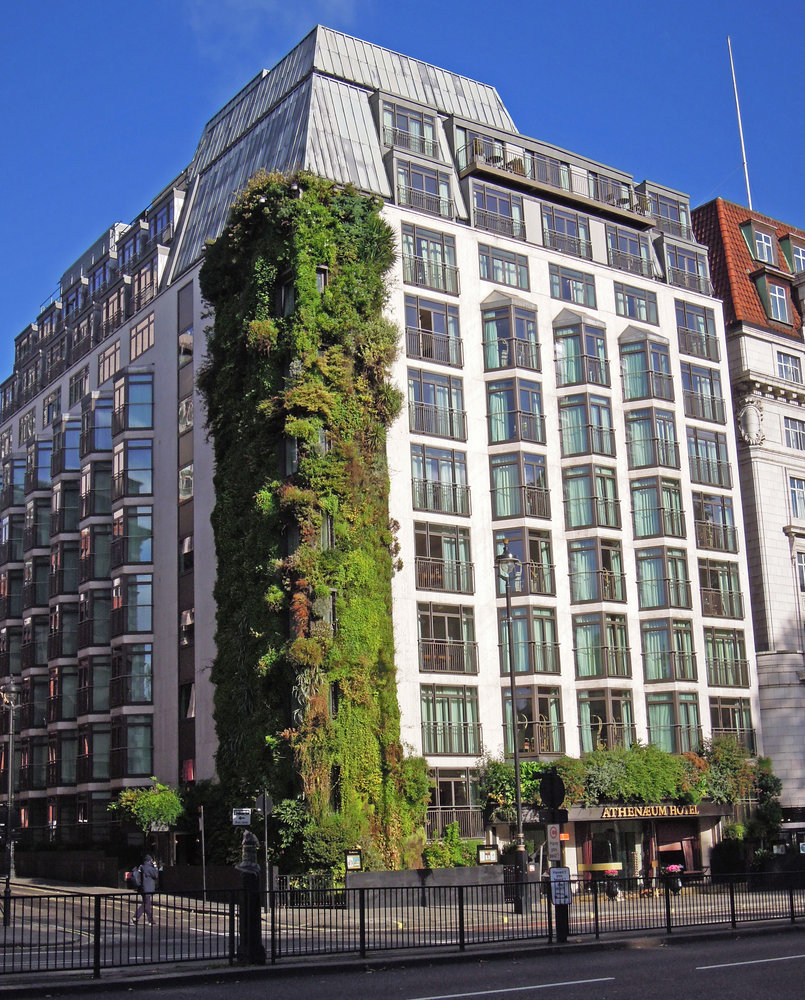 The Living Wall of the Athenaeum Hotel and Apartments in London, England