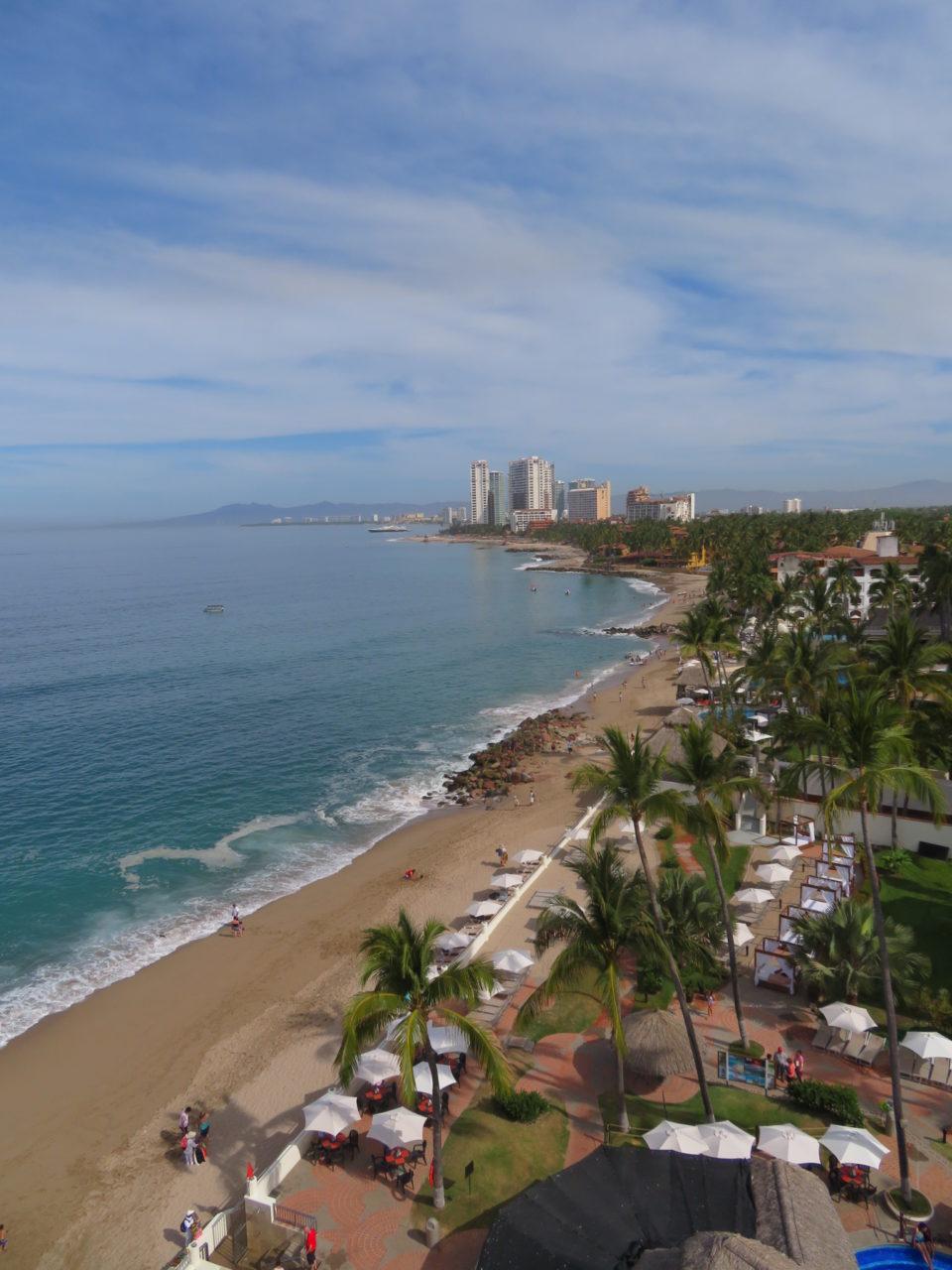 Some of the many inviting beaches of Puerto Vallarta