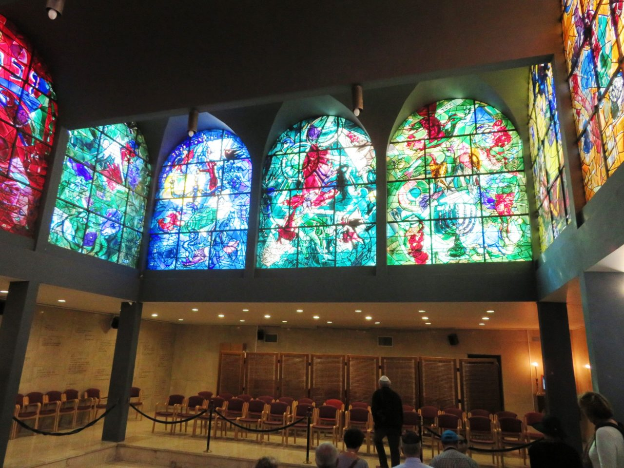 Favorite Israel Vacation Experiences : Chagall windows at the synagogue of the Hadassah Medical Center in Jerusalem