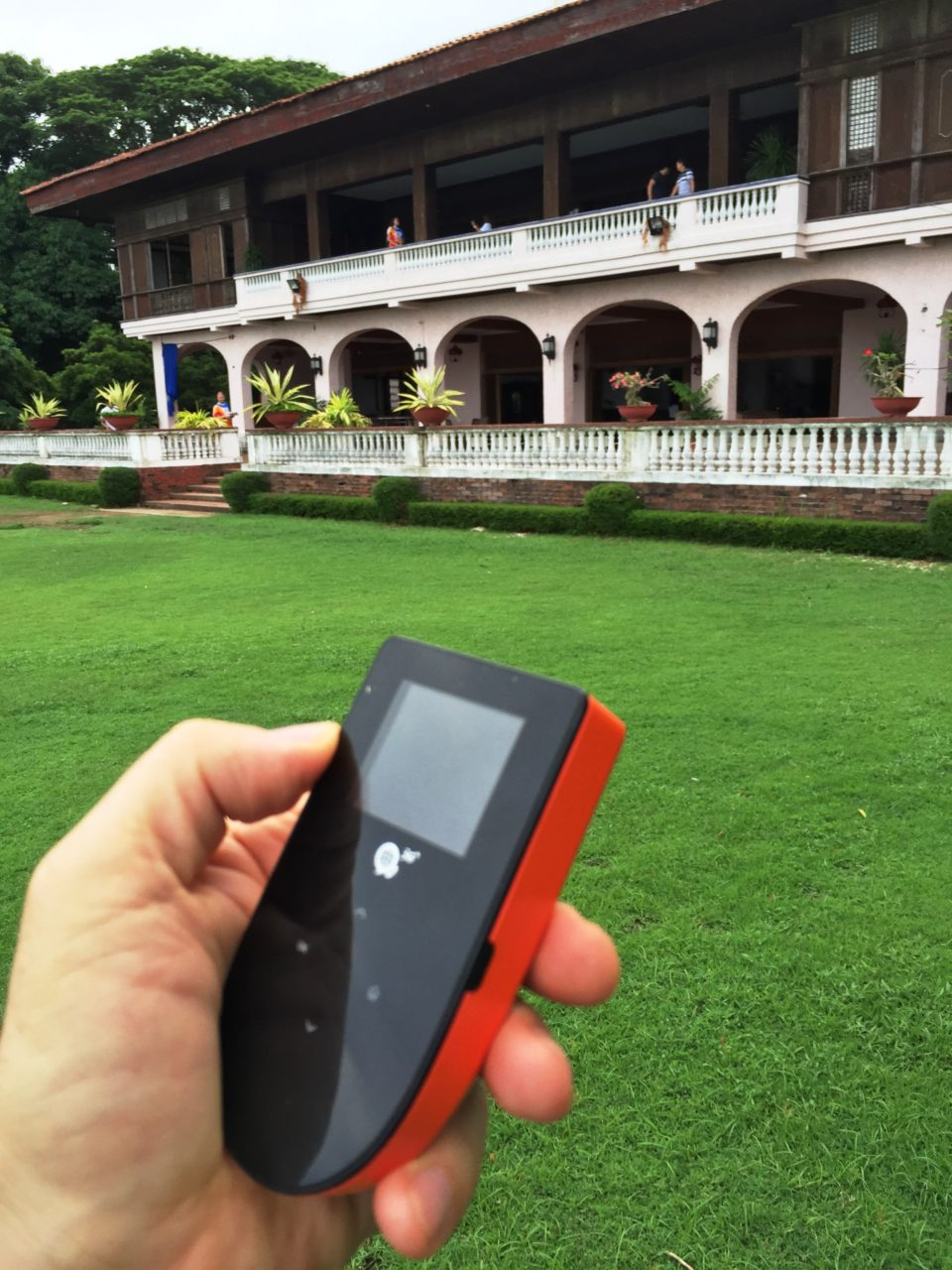 WiFi Anywhere : Skyroam Global Hotspot providing internet access at Ferdinand Marcos' summer house in the Philippines