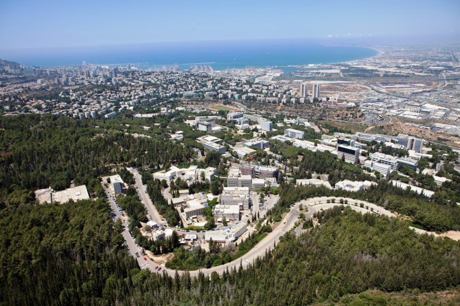 Technion : Technion Campus Overlooking Haifa City and Bay