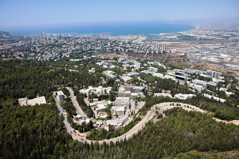 Technion : Technion Campus Overlooking Haifa City and Bay