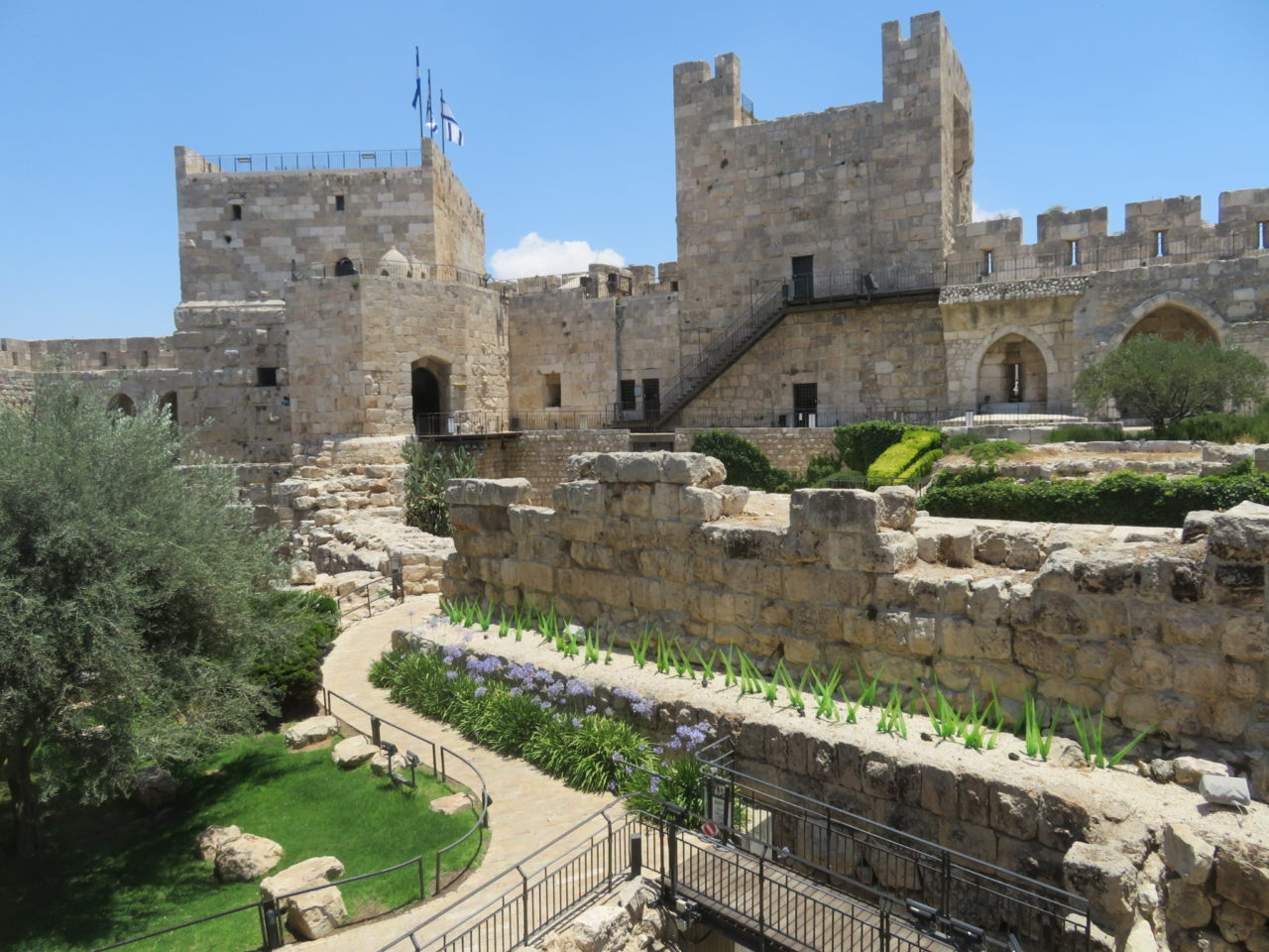 The joys of walking Jerusalem - Fortifications from different time periods (Ottoman, Crusader, ...) at the Tower of David