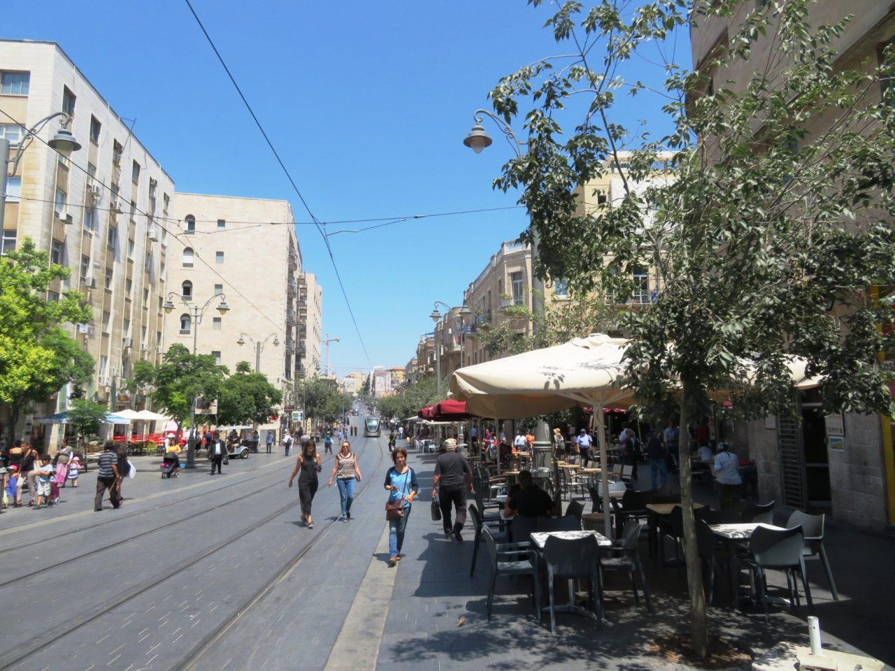 The joys of walking Jerusalem - Jaffa Street in downtown Jerusalem