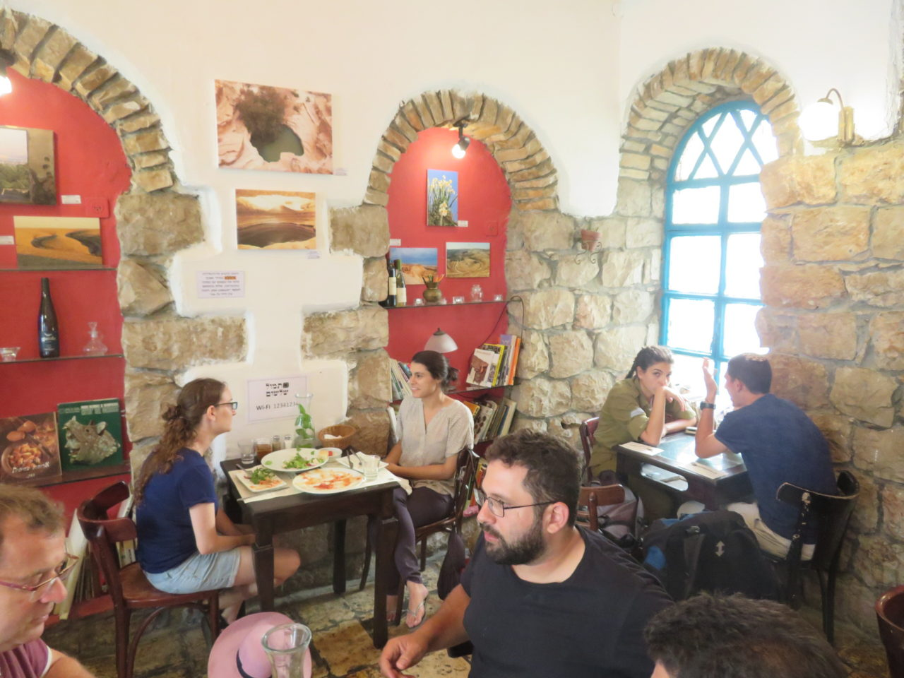 The joys of walking Jerusalem - A corner of the Tmol Shilshom literary cafe and restaurant